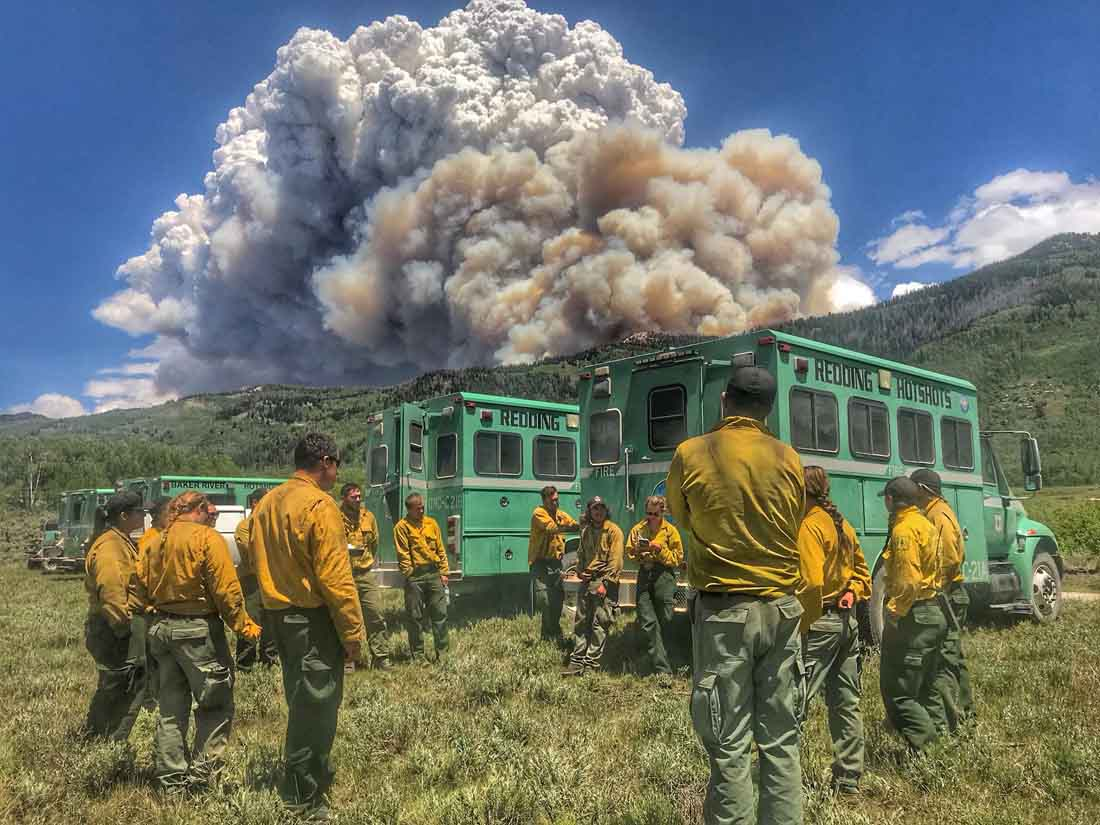Redding Hotshots Trail Mountain Fire