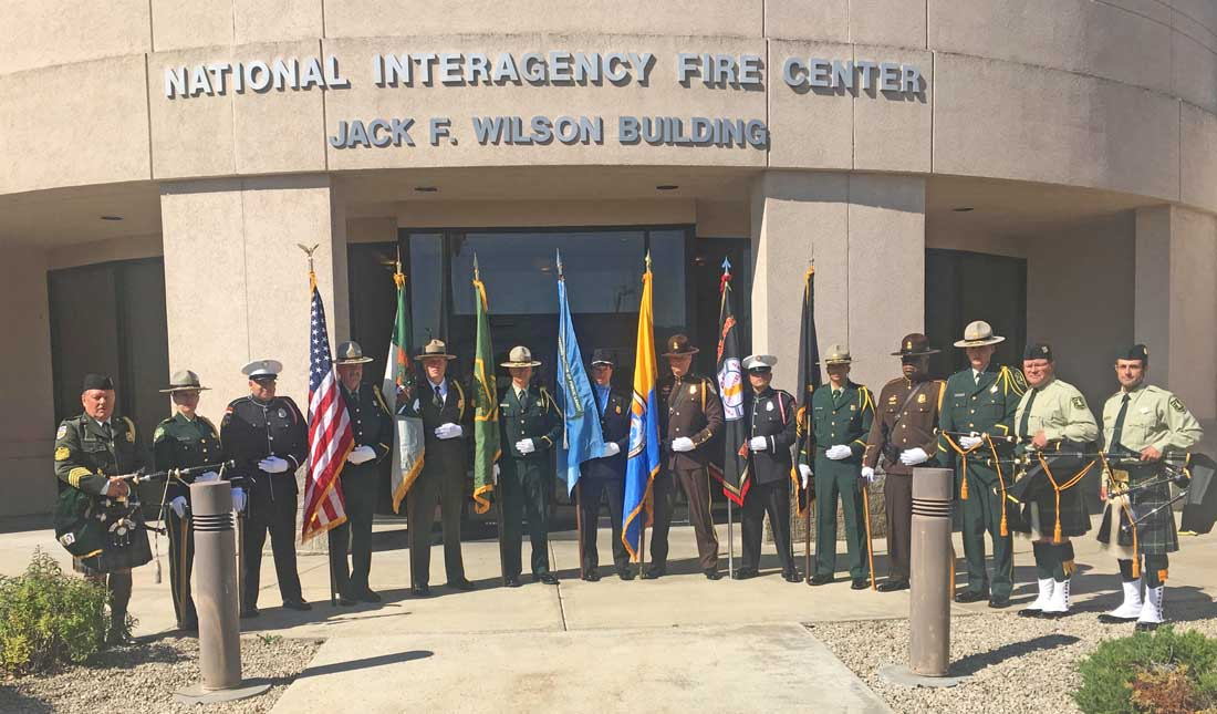 Honor Guard personnel from wildland fire agencies represented at Family Fire Weekend