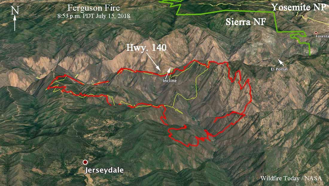 3-D map Ferguson Fire