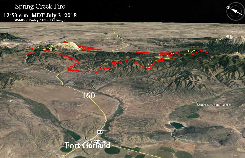 map Spring Creek Fire