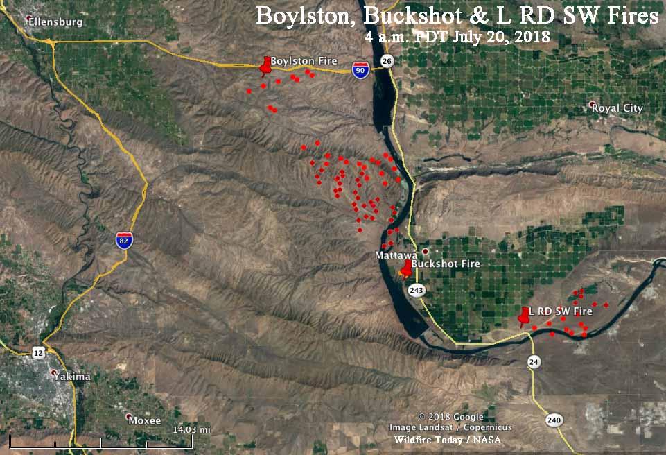 map Boylston Fire Washington