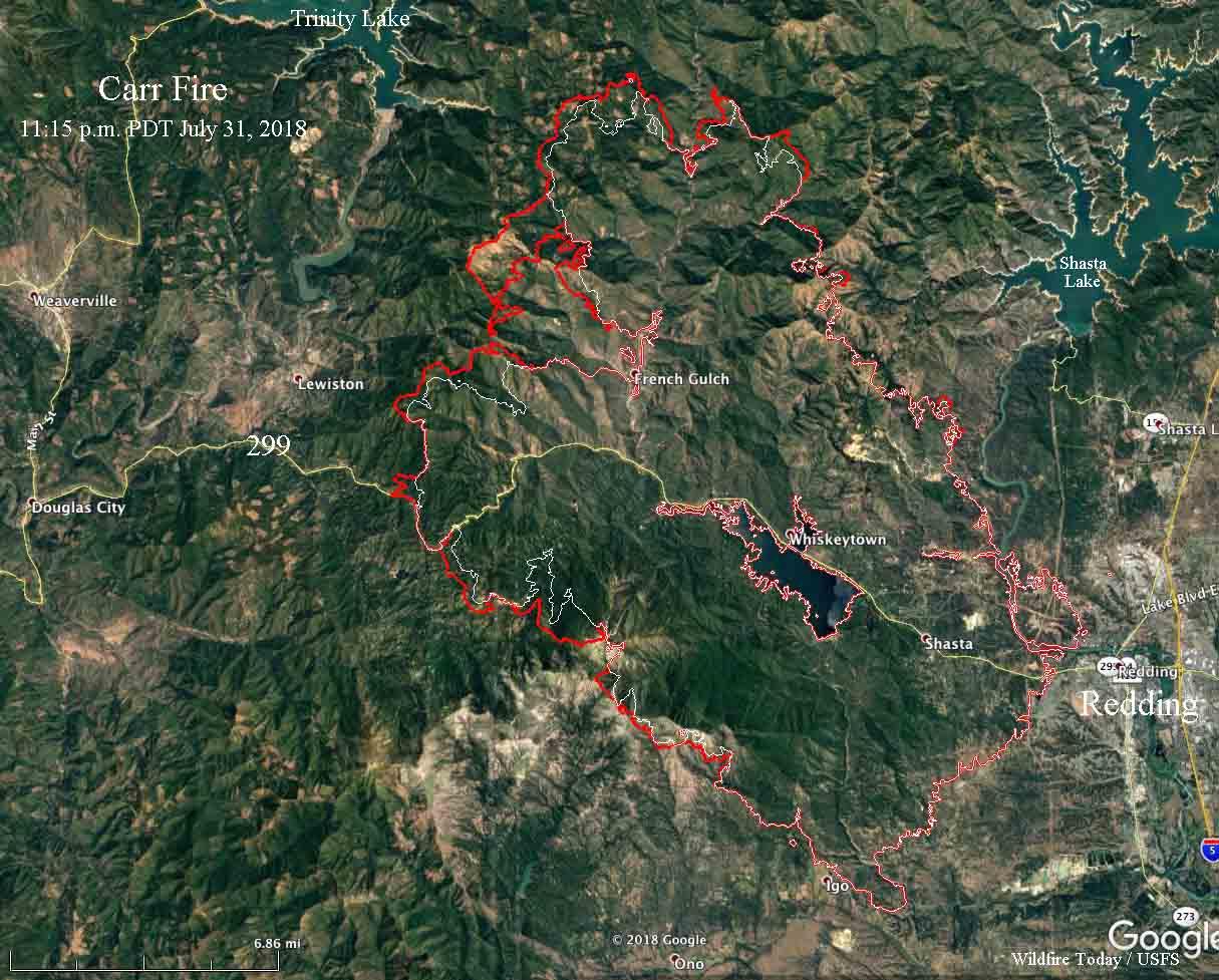 map carr fire redding california