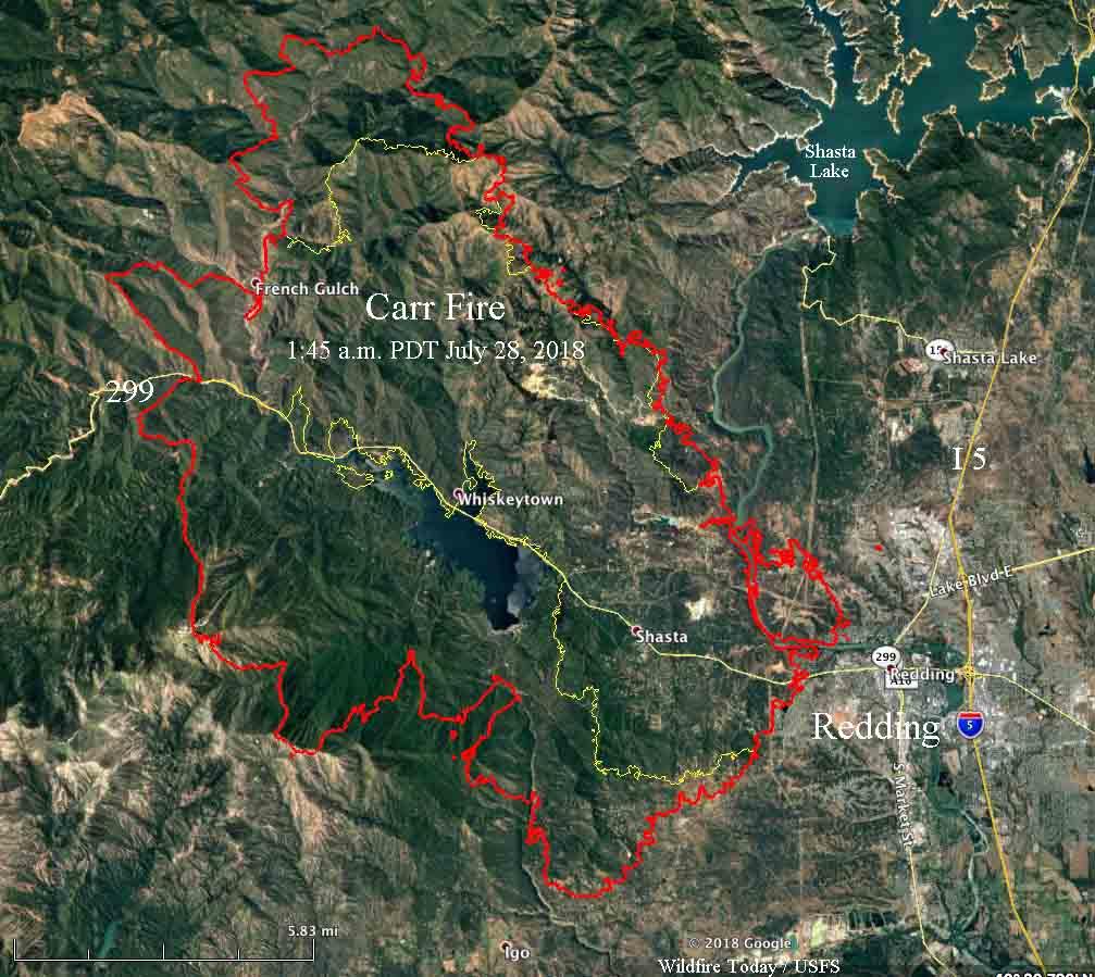 map Carr Fire