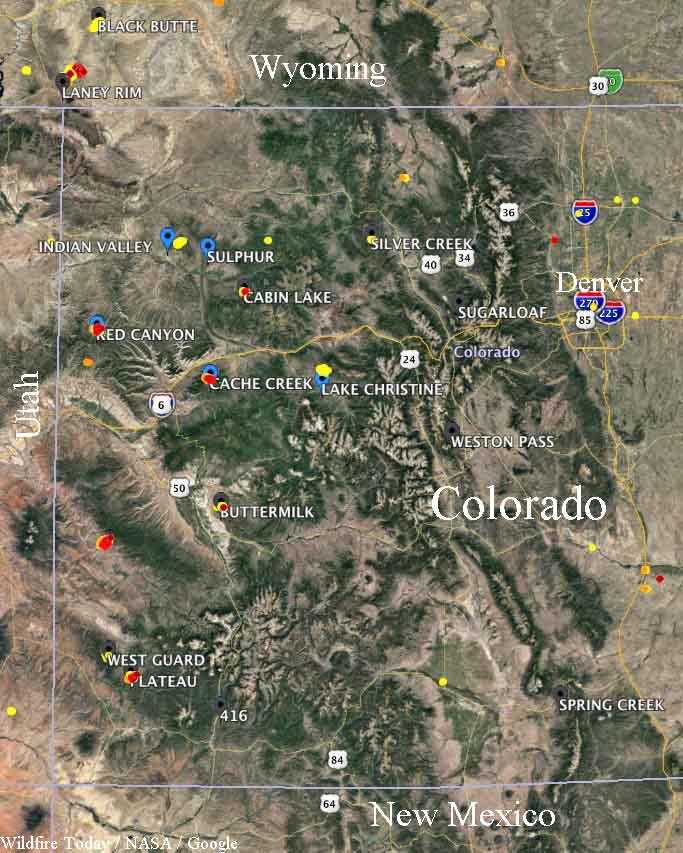 Fires western Colorado