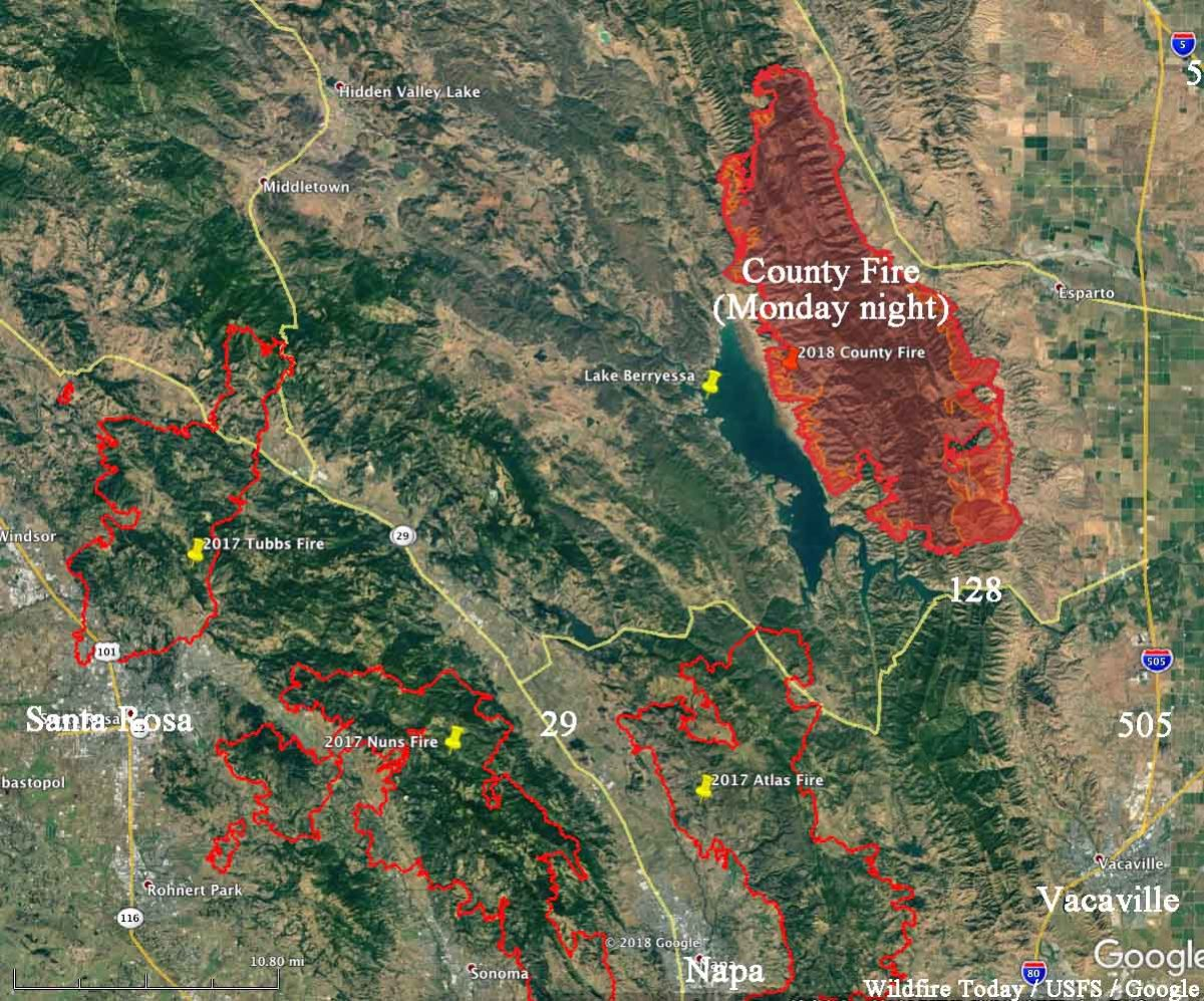 Kron 4 Fire Map.County Fire Archives Wildfire Today