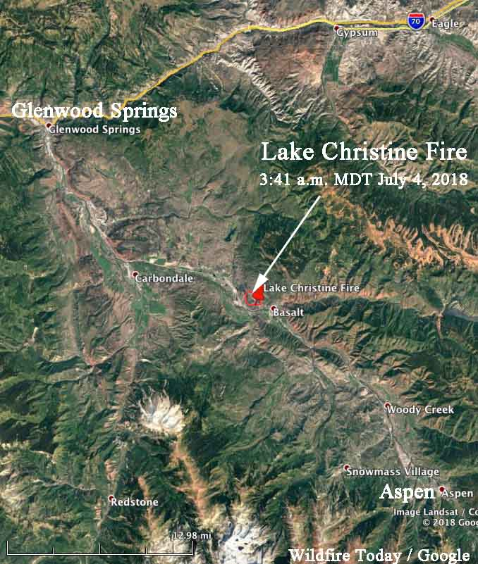 map Lake Christine Fire