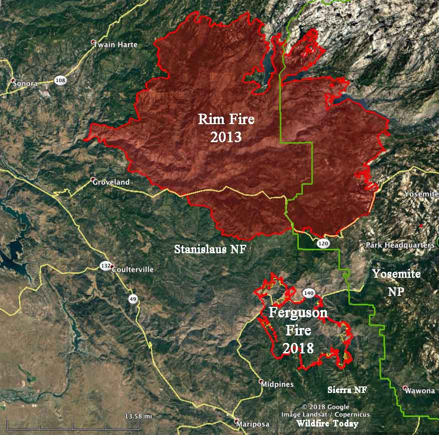 Could the Ferguson Fire burn into the Rim Fire?   Wildfire Today