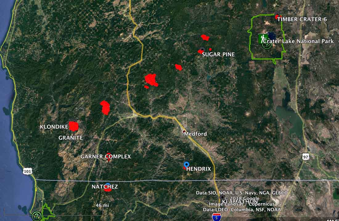 lightning fires southwest Oregon