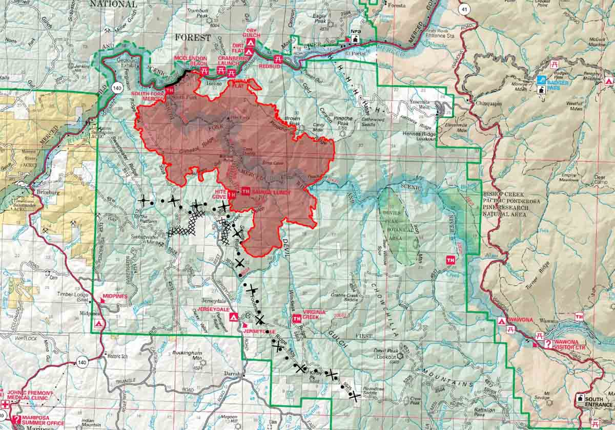 map Ferguson Fire
