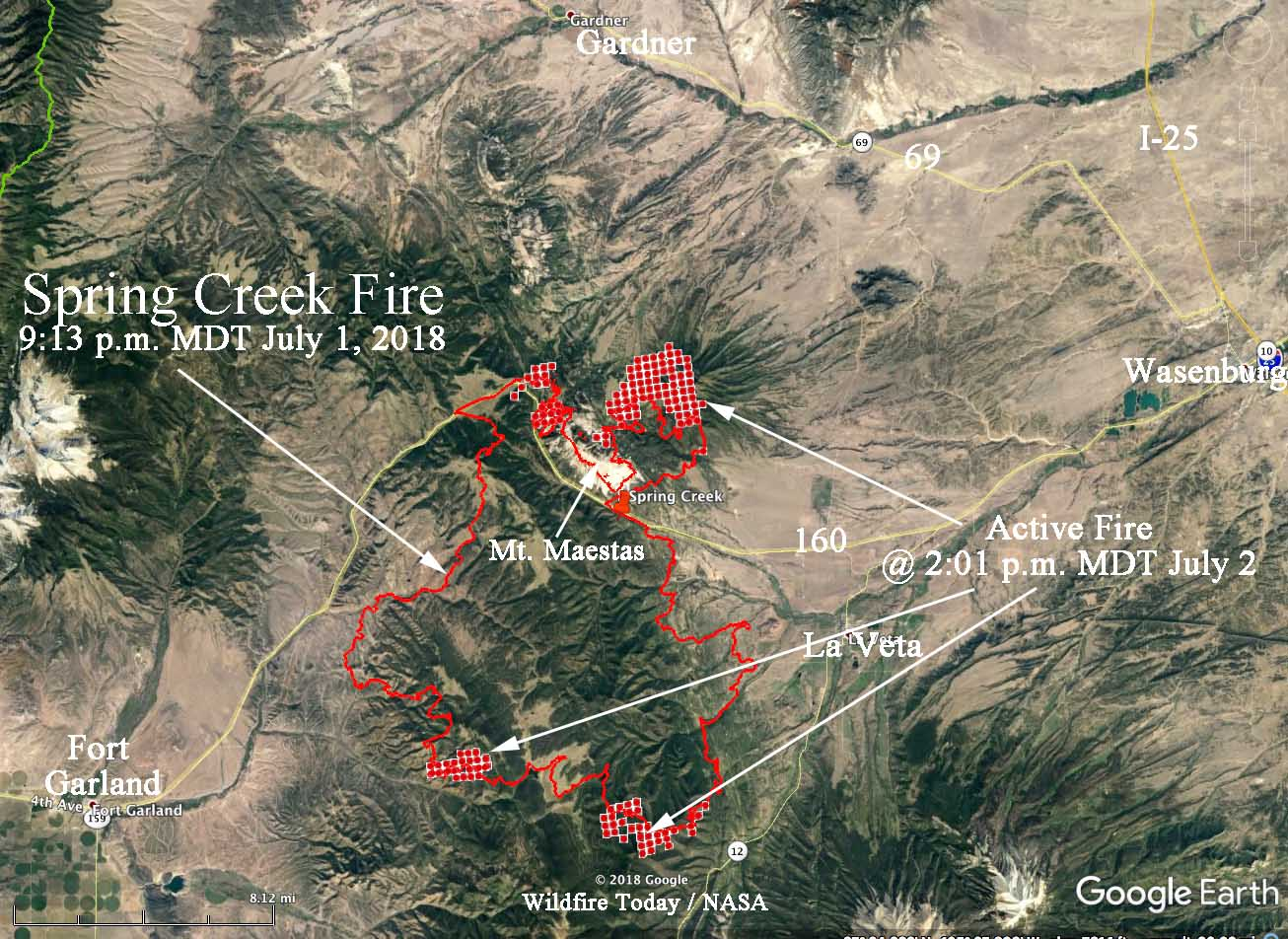 Spring Creek Fire spreads closer to highway 12   Wildfire Today