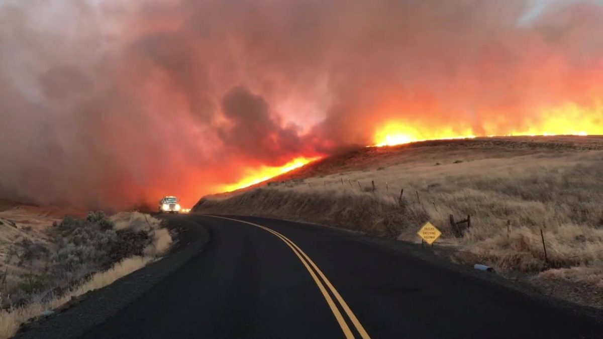 One dead, 50,000 acres burn in Substation Fire