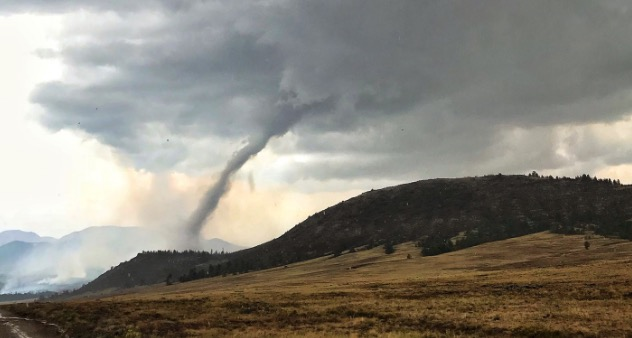 Tornado Weston Pass Fire