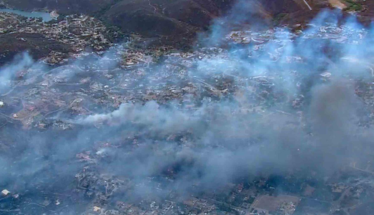 West fire alpine CA