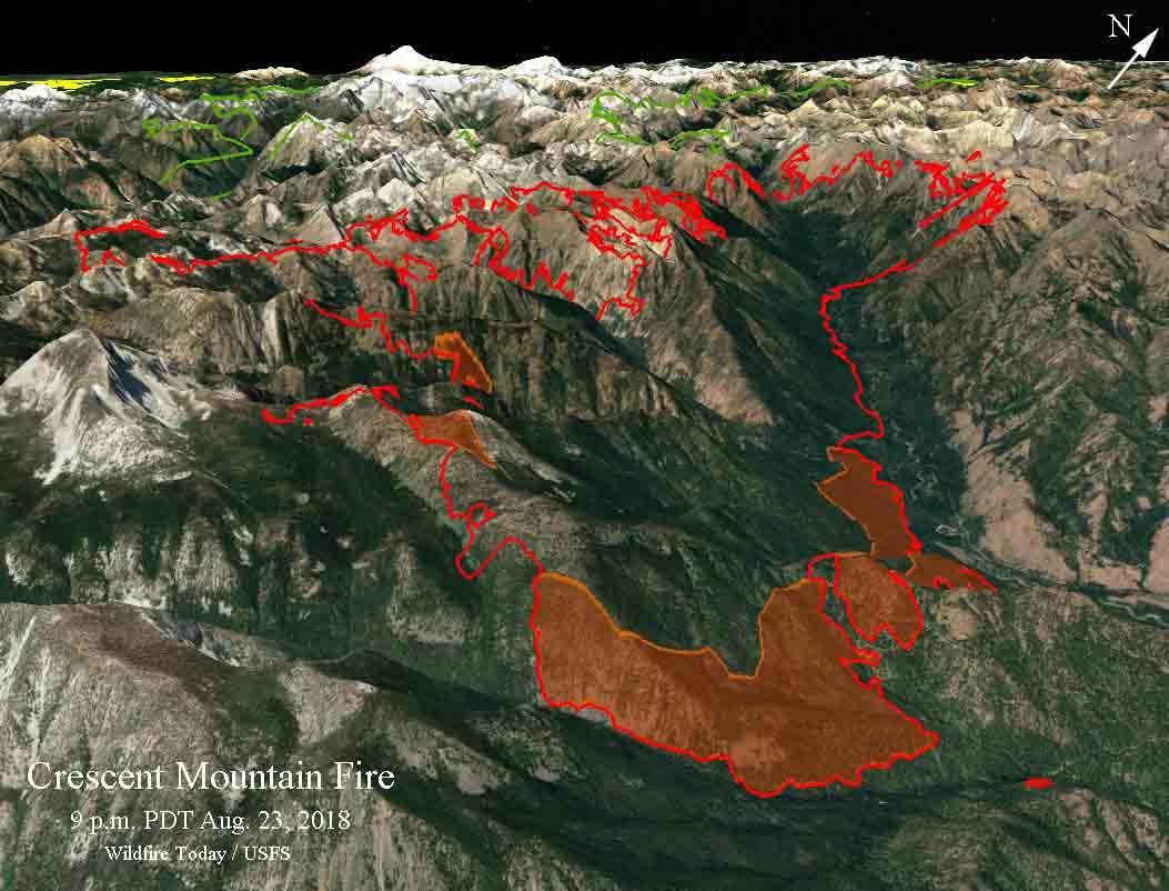3-d map Crescent Mountain Fire