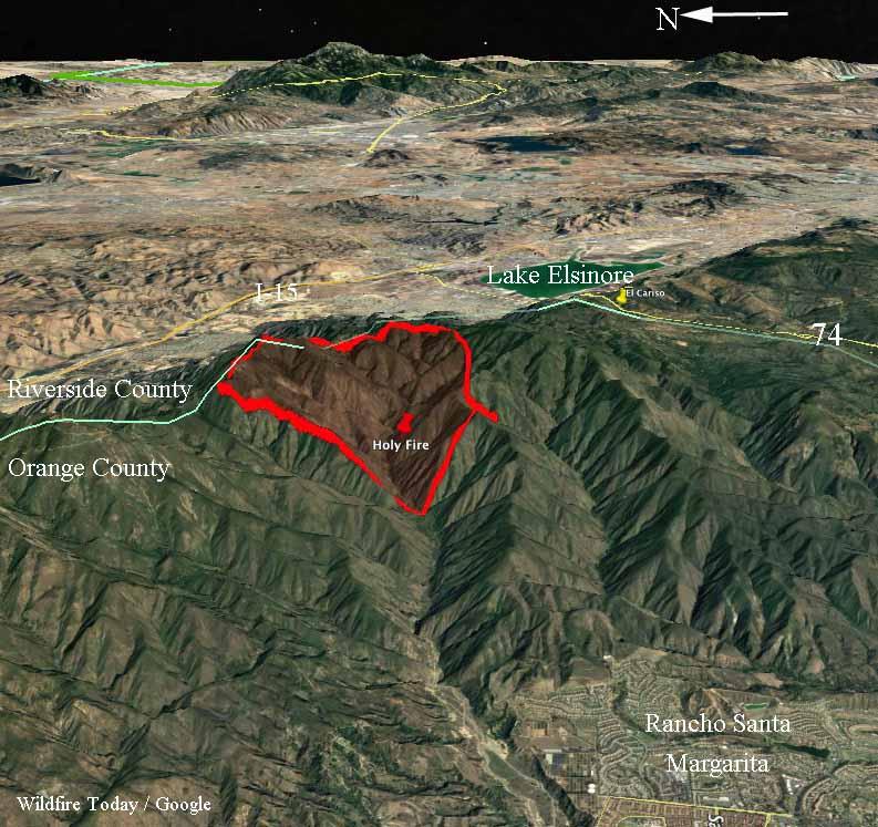 3-D map Holy Fire August 6 2018