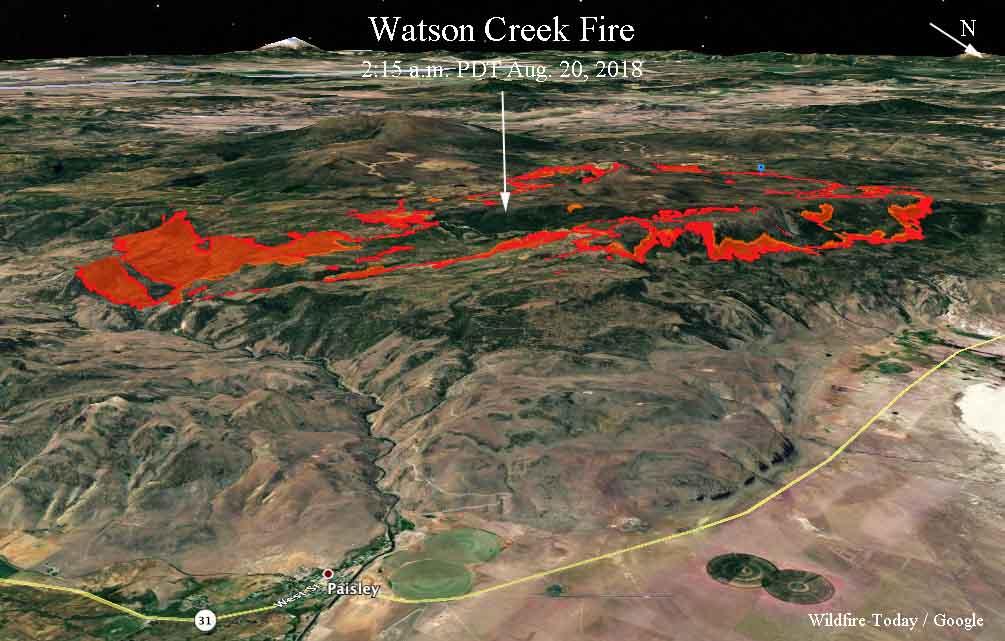 3-D Map Watson Creek Fire