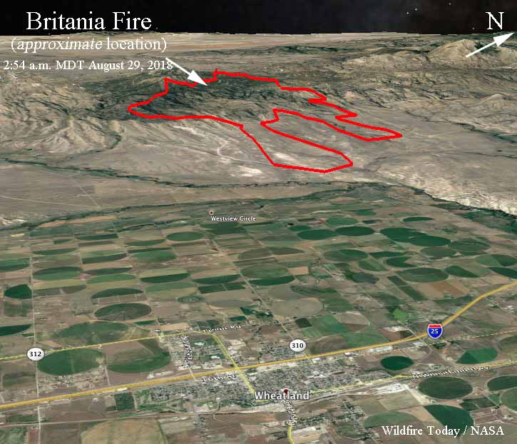 3-d map Britania Mountain Fire