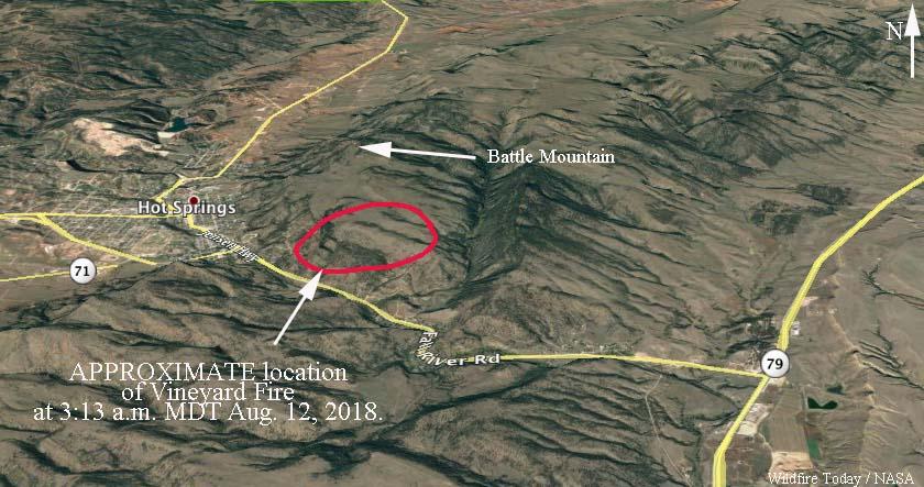 map Vineyard fire