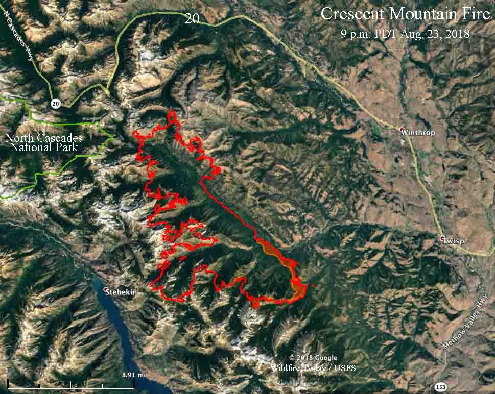 map Crescent Mountain Fire