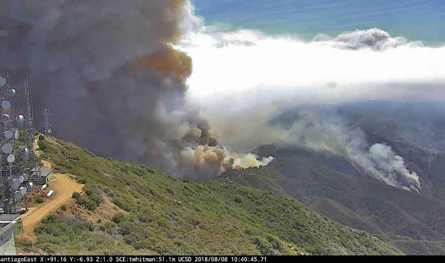 Holy Fire spreads east into Riverside County