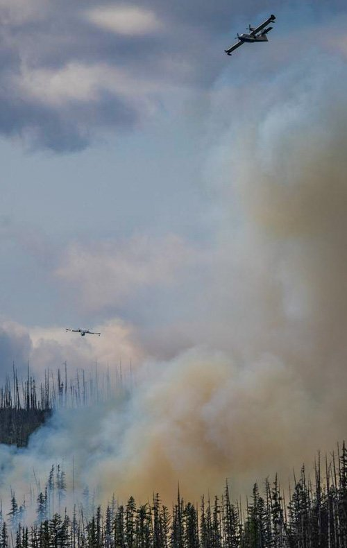 Howe Ridge Fire in Glacier National Park
