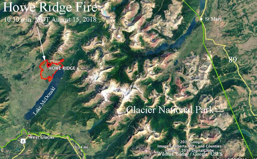 map Howe Ridge Fire