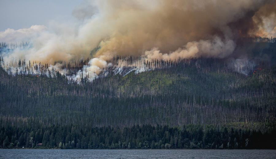 Howe Ridge Fire burns thousands of acres in Glacier National Park
