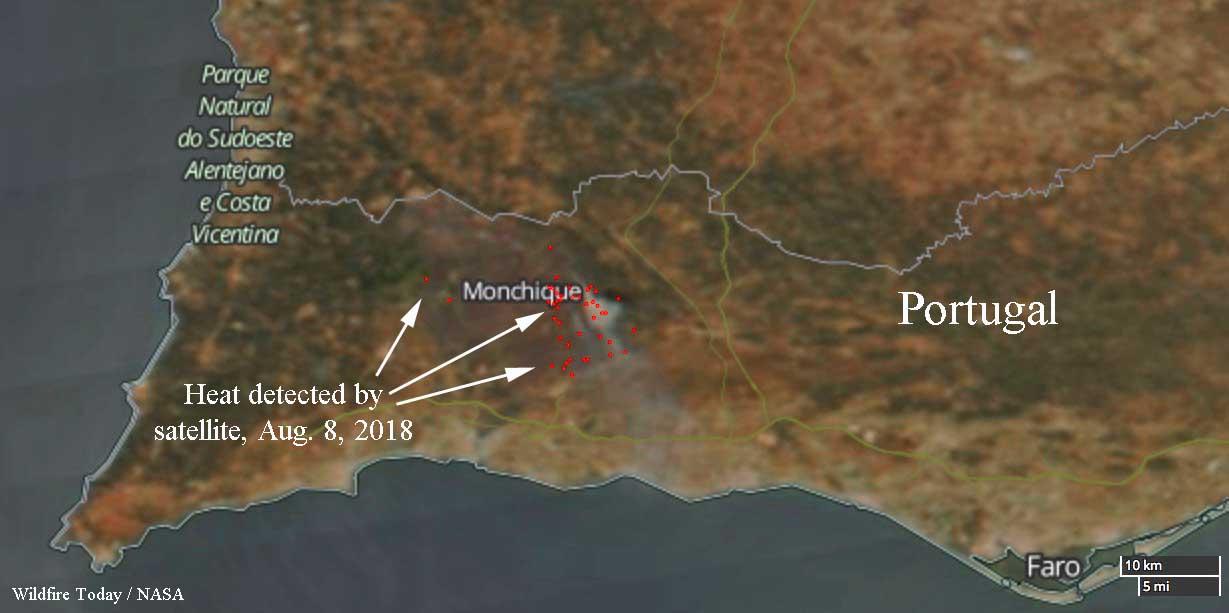 Portugal Monchique fire wildfire