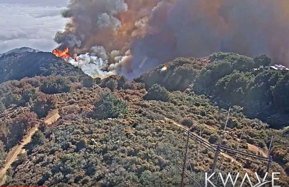 Holy Fire Santiago Peak California