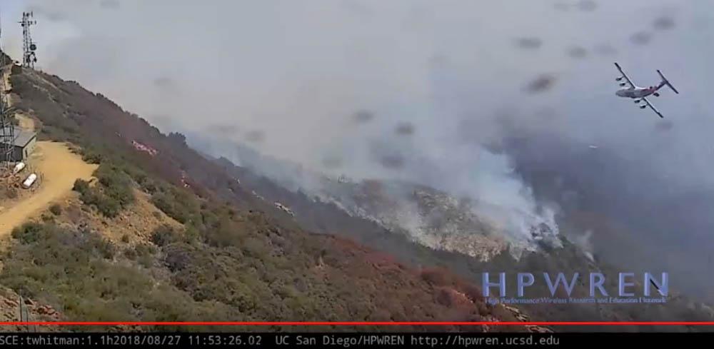 BAe-146 air tanker Holy Fire Santiago Peak California
