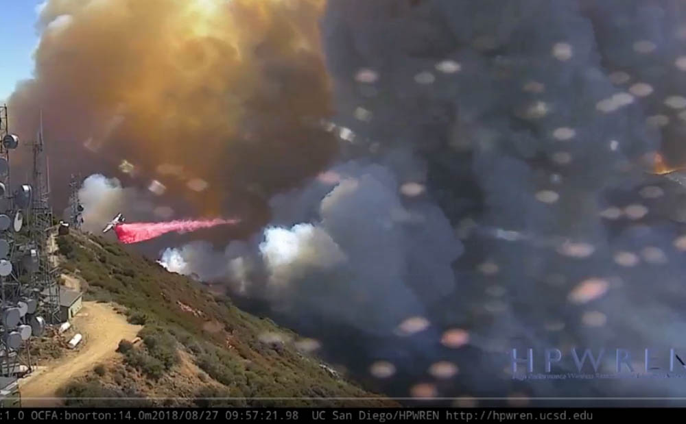 S-2T air tanker Holy Fire Santiago Peak California