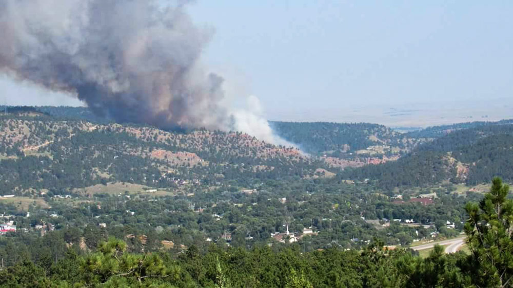 Vineyard Fire hot springs south dakota