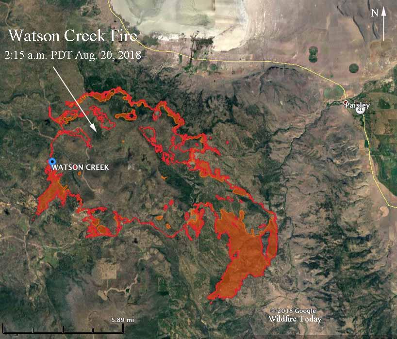 Map Watson Creek Fire