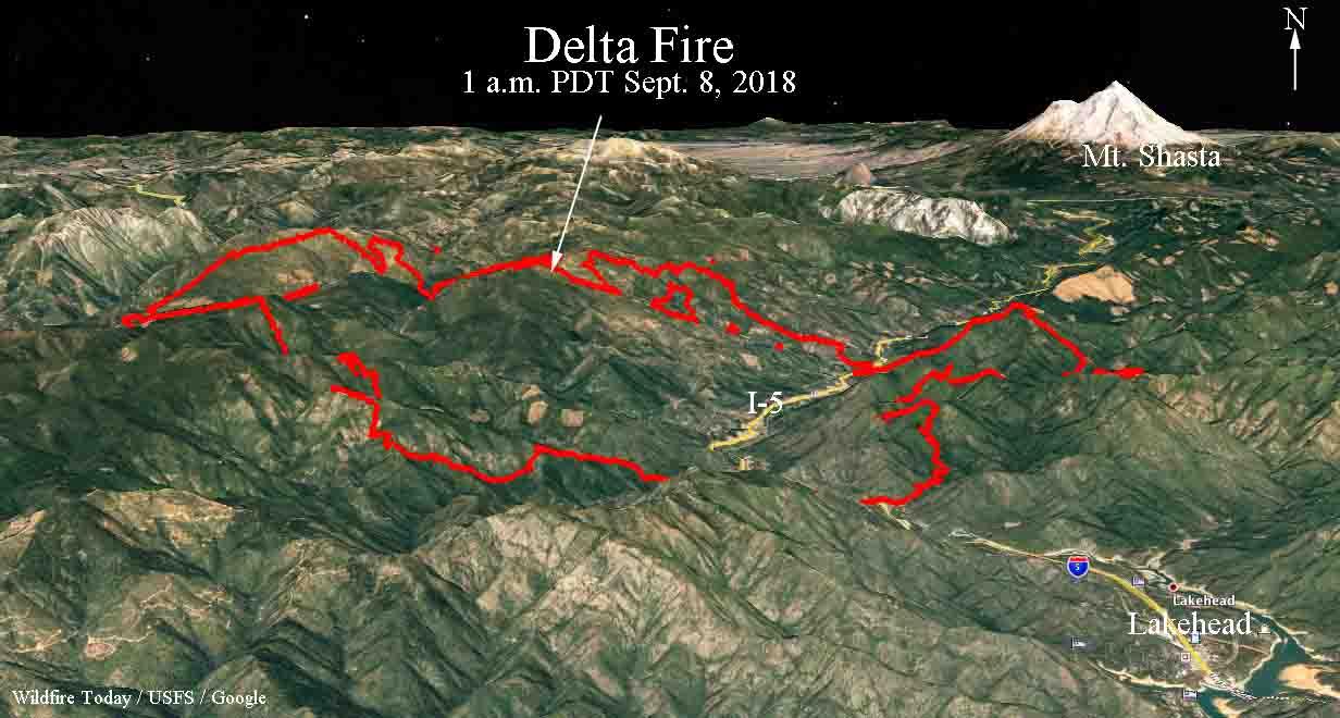 3-D Delta Fire Map