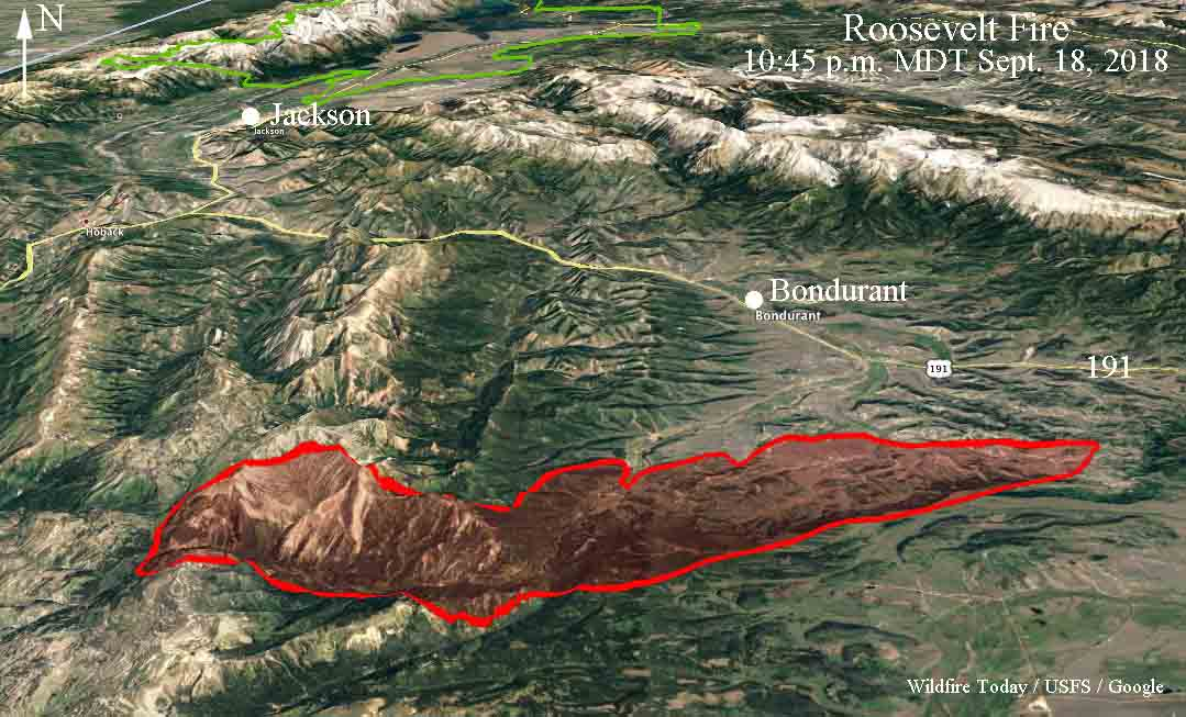 3-D map Roosevelt Fire Wyoming