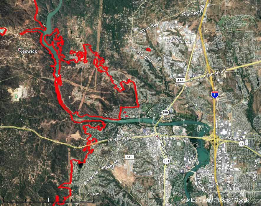 A firefighter analyzes how the Carr Fire burned into Redding, California