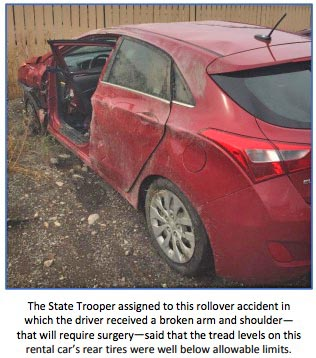 Rental car rollover, Frisco, Colorado