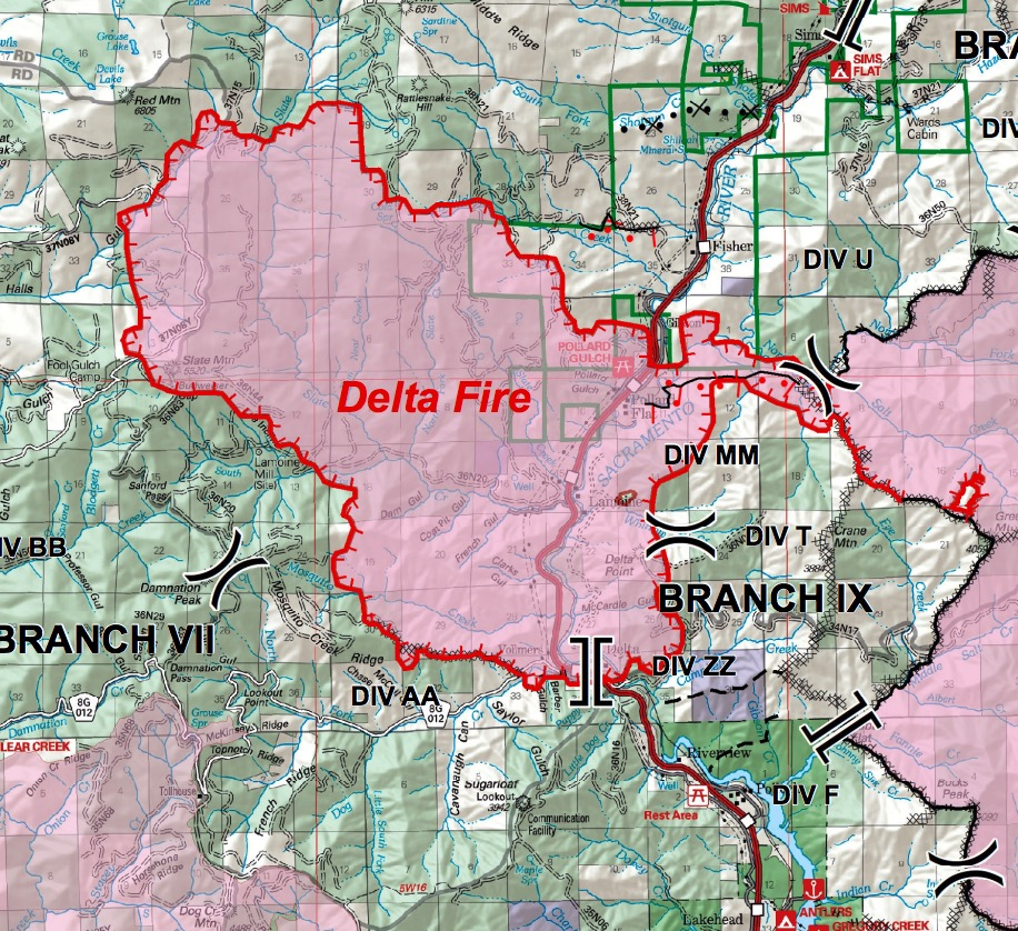Delta Fire, updated information, September 7, 2018   Wildfire Today