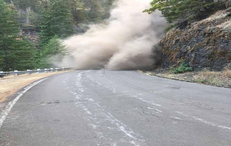 landslide Terwilliger Fire Oregon