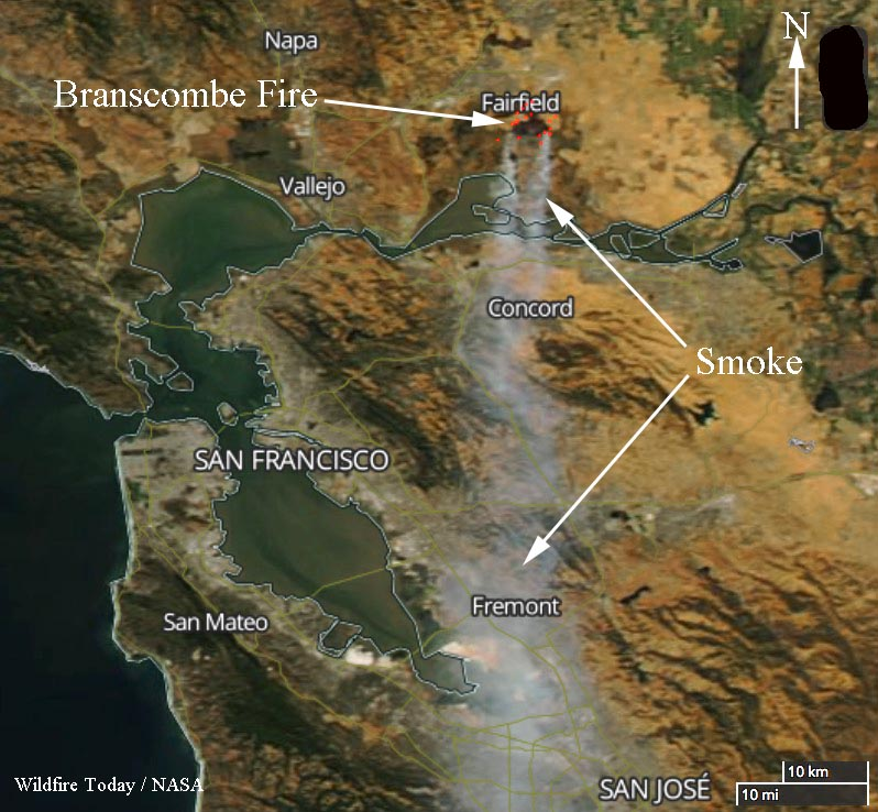 map Branscombe Fire California