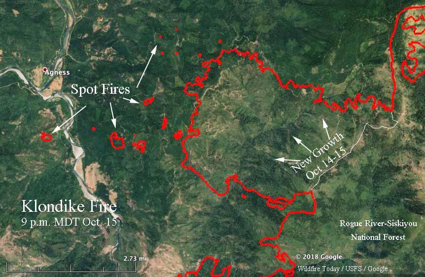 map Klondike Fire