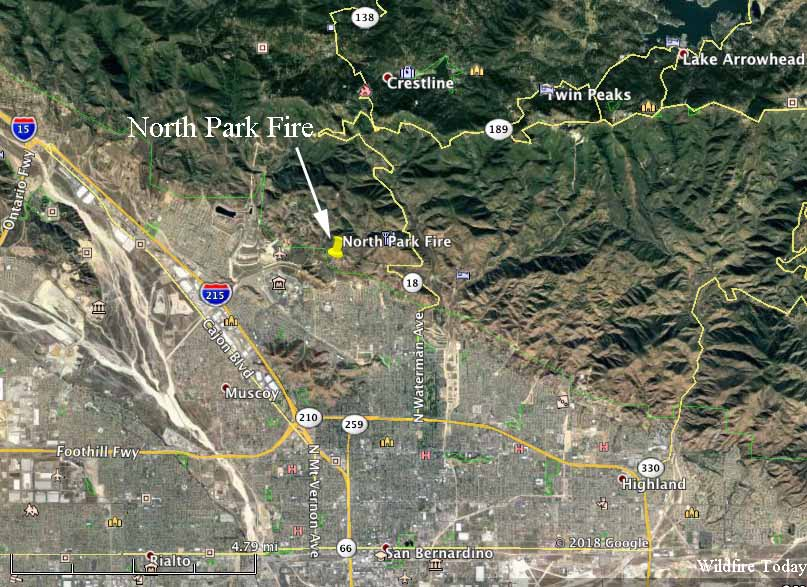 map North Park Fire