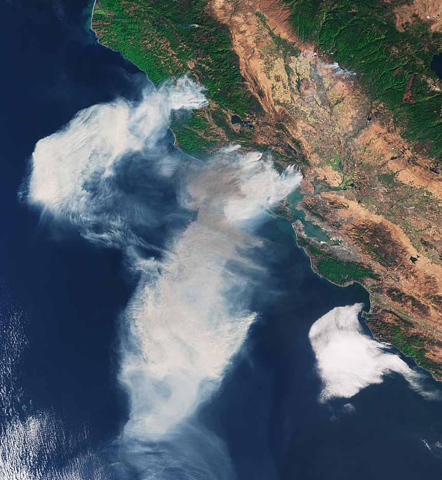 satellite photo northern California wildfires October 2017