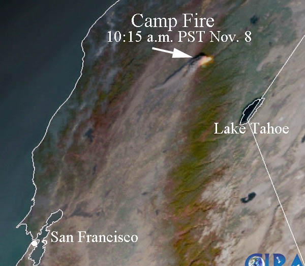 Chico Camp Fire in Butte County