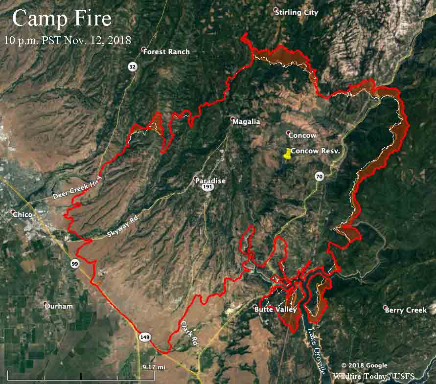 map Camp Fire November 12 2018