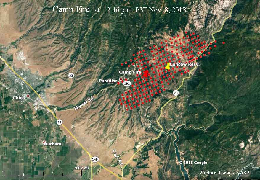 Camp Fire map