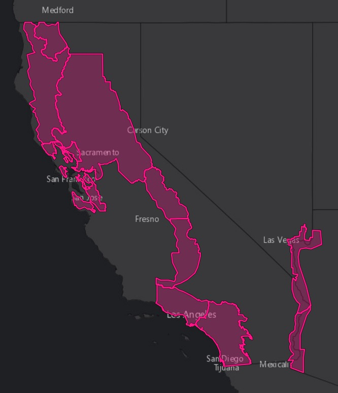 Red Flag Warnings California wildfires