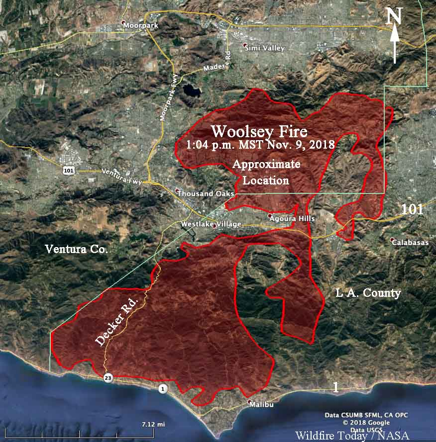 Northern California Fire Map 2018.Wildfires Near Thousand Oaks California Put Over 100 000 Homes