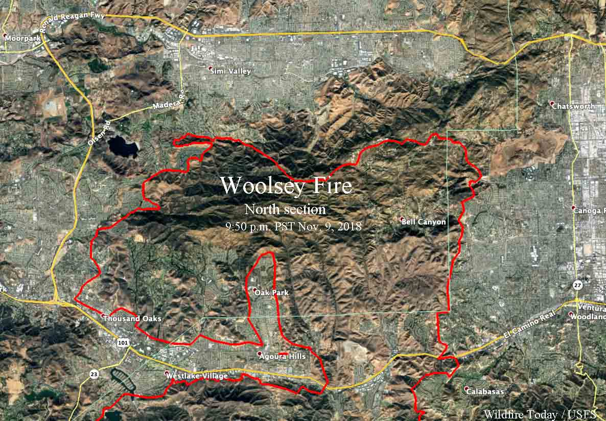 Woolsey Fire Map