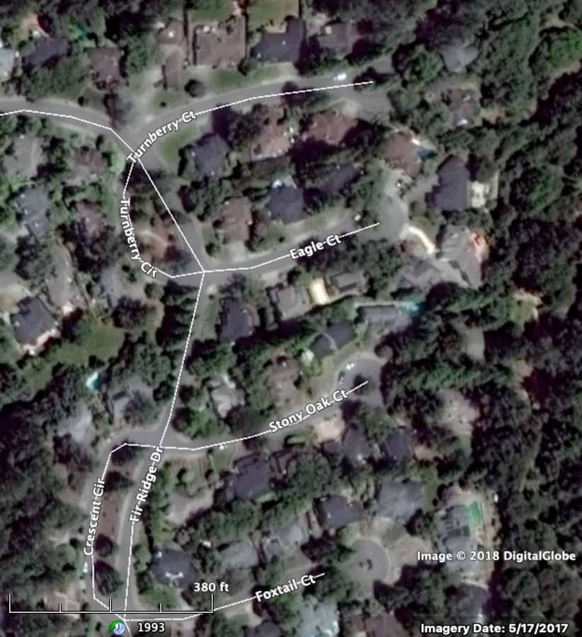 Satellite photo Fountaingrove